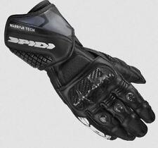 Spidi Carbo 5 Protección CE Moto Sport Guantes de cuero - Negro