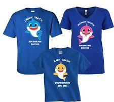 Baby Shark  Mommy Daddy Party Family Shark birthday boy girl T-Shirts