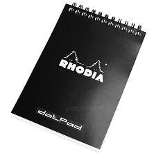 Rhodia A6 Dotpad # 13 Dot Matrix Rejilla Libro Arquitectos Sketch Dibujo Pad Negro