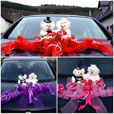 Brautauto Dekorationen Autoschmuck Hochzeitsauto Weiß Rose Autodeko Bären  M15