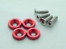 EPR Anodizado Rojo Aluminio GUARDABARROS Tuercas & Tornillos NISSAN 180sx 200sx