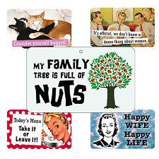 FUNNY segnali-Famiglia / Amici / HOME correlati-stratificato CARD - 20cm x 12cm
