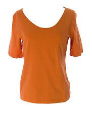 Lunn Women's Detective Mandarine Short Sleeve Tie Back T-Shirt E114LA105 $110