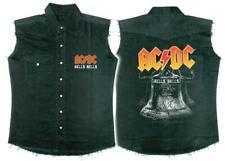 OFFICIAL LICENSED - AC/DC - HELLS BELLS SLEEVELESS WORK SHIRT ANGUS ROCK