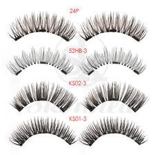4PCS Magnetic False Eyelashes Handmade Lashes 3D Triple Soft Lashes Makeup Tools