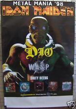 IRON MAIDEN Dio W*A*S*P* Metal Mania PROMO POSTER ©1998