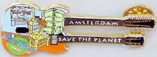 Hard Rock Cafe AMSTERDAM 2000 Van Gogh GUITAR PIN Gold Base Metal - HRC #222