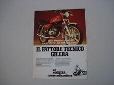 advertising Pubblicità 1981 MOTO GILERA 125 TG1