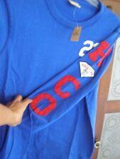 Hollister LS Sweatshirt M mEDIUM applique sleeve NEW blue MENS