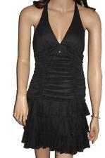 C111 - Ladies Black Sparkle Evening Prom Dress - UK 10/12
