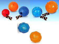 Futterball Snackball 4 Größen Hund TPR Kunststoff od. Vollgummi Ball Leckerlies