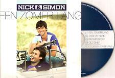 NICK & SIMON - een zomer lang CD SINGLE 4TR 2011 NEW!