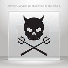 Decals Sticker Devil Skull Atv Bike Garage bike polymeric vinyl st5 ZE557