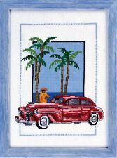 Permin  92-8127  Voiture  Cuba  Rou  Kit  Broderie  Point de Croix  Compté