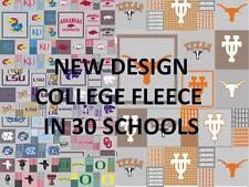 COLLEGE FLEECE FABRIC-UNIVERSITY FLEECE FABRIC-SOLD BY THE YARD-SCHOOLS A-N#158