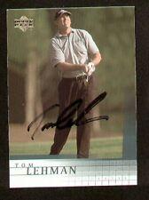 Tom Lehman #22 signed autograph auto 2001 Upper Deck Golf Card