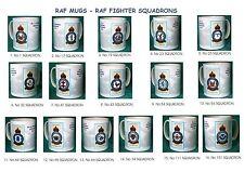 RAF MUGS.RAF VINTAGE BADGE MUGS.FIGHTER SQUADRONS.NEW.BNIB