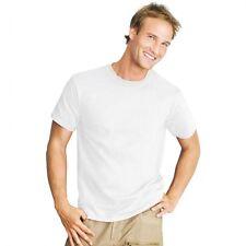 New Unisex 6 Pack Plain White 100% Cotton Crew Neck top Blank Tee Shirt Tshirt T