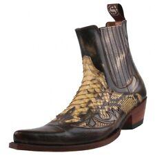 NUOVO SENDRA stivali PITONE Stivali da Cowboy Stivali 9396 Nero