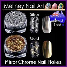 Silver Gold Chrome Mirror Flakes Metallic Powder Nails Nail art Gel Decoration