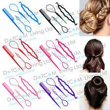 4 Pcs Set Styling Clip Bun Maker Hair Twist Braid Ponytail Accessories Tool