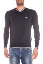 Maglia Maglietta Armani Jeans Sweater Pullover % Uomo Blu C6W15VK-35