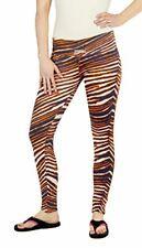 Zubaz NFL Women's Denver Broncos Team Color Tiger Print Leggings Pants