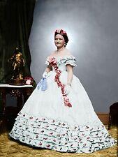Mary Todd Lincoln Inauguration Photograph Color Tinted photo Civil War 01023