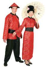 Chinesin Damen Kostüm China Kleid mit Gürtel zu Karneval Fasching