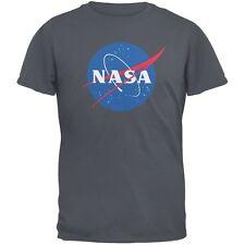 NASA Logo Charcoal Grey Adult T-Shirt
