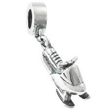 Sterling Silver Winter Snowmobile Motorbike Engine For European Charm Bracelets
