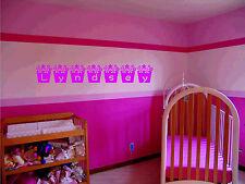 nome a parete adesivo fiori Vinyl decalcomania artistica da parete grande pic