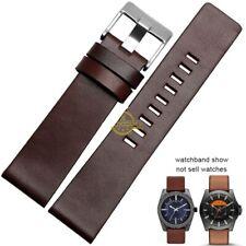 Watchband Leather Bracelet Strap For Diesel 22 24 26 28 30mm Watch Pink Buckle
