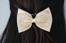 Vintage Satin Lace Lace Bow Bix Hair Clip Hair Accessories Bow Clip