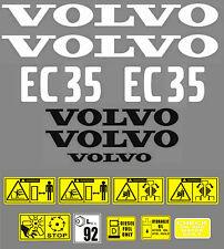 Decal Sticker Graphics set for VOLVO EC35 Mini Digger Bagger Autocollant