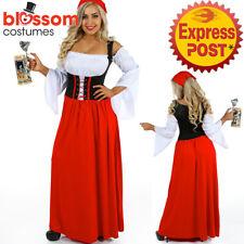 K96 Oktoberfest Costume Bavarian German Heidi Dirdnl Leiderhosen Beer Wench Maid