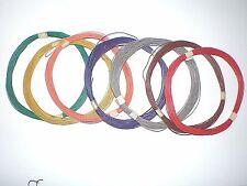 E34 / 10m Kupferschaltlitze 0,04mm² Litze Schaltlitze extra dünn  7 Farben