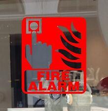 Fire Alarm  Sign Vinyl Cut Sticker Decal Push Button Hand  Bulk Order