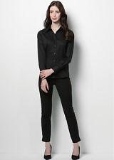 LADIES LONG SLEEVED BAR SHIRTS - BLACK - Personalised free with Name or Logo!
