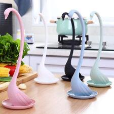 Plastic swan shaped long handled ladle soup spoon kitchen tableware dinnerware U