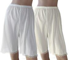 "2-Pack Satiny Soft Lace Hem 22"" Pettipants Slip - Regular and Plus Size"