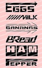 Grocery Getter List Car Decal Nos Greddy Momo BBS Pirreli Funny sticker