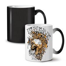 Freak Punk Rock Calavera nuevo cambio de color té café taza 11 Oz | wellcoda