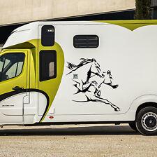 Sticker Chevaux - Autocollant Cheval Horse - carrosserie mural vitre -13 coloris