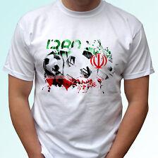 Iran football flag white t shirt soccer style design mens womens kids