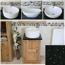 Cloakroom Bathroom Vanity Unit Cabinet Oak Quartz Marble Stone Ceramic Basin 309