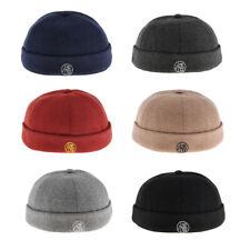 Lovoski Men's Retro Wool Docker Cap Hat Leon Beanie Cap Adjustable Skullcap