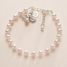 Für ein Engel Bettelarmband Damen, Mädchen oder Kinder Schmuck Pink Perlen