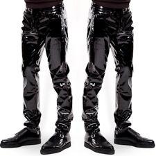 Men's Slim Fit Shiny Patent PVC Leather Nightclub Party Tight Pants Leggings