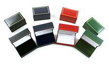 De Lujo Imitación Cuero Doble Anillo Caja de joyería Pantalla almacenamiento Caja De Regalo